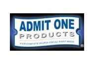 Admit One Products Coupon Codes July 2019