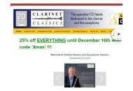 Clarinetclassics Coupon Codes January 2019