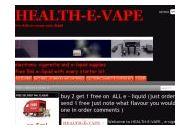 Health-e-vape Uk Coupon Codes March 2021