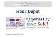 Heardepot Coupon Codes September 2020