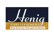 Henig Furs & Leathers Coupon Codes October 2019