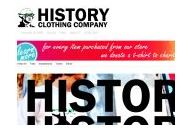 History-clothing Coupon Codes August 2018
