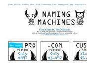 Namingmachines Coupon Codes January 2019
