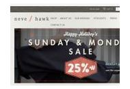 Neveandhawk Coupon Codes January 2019