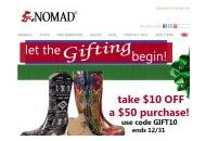 Nomadfootwear Coupon Codes October 2020