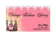 Vintage Fashion Library Coupon Codes May 2018